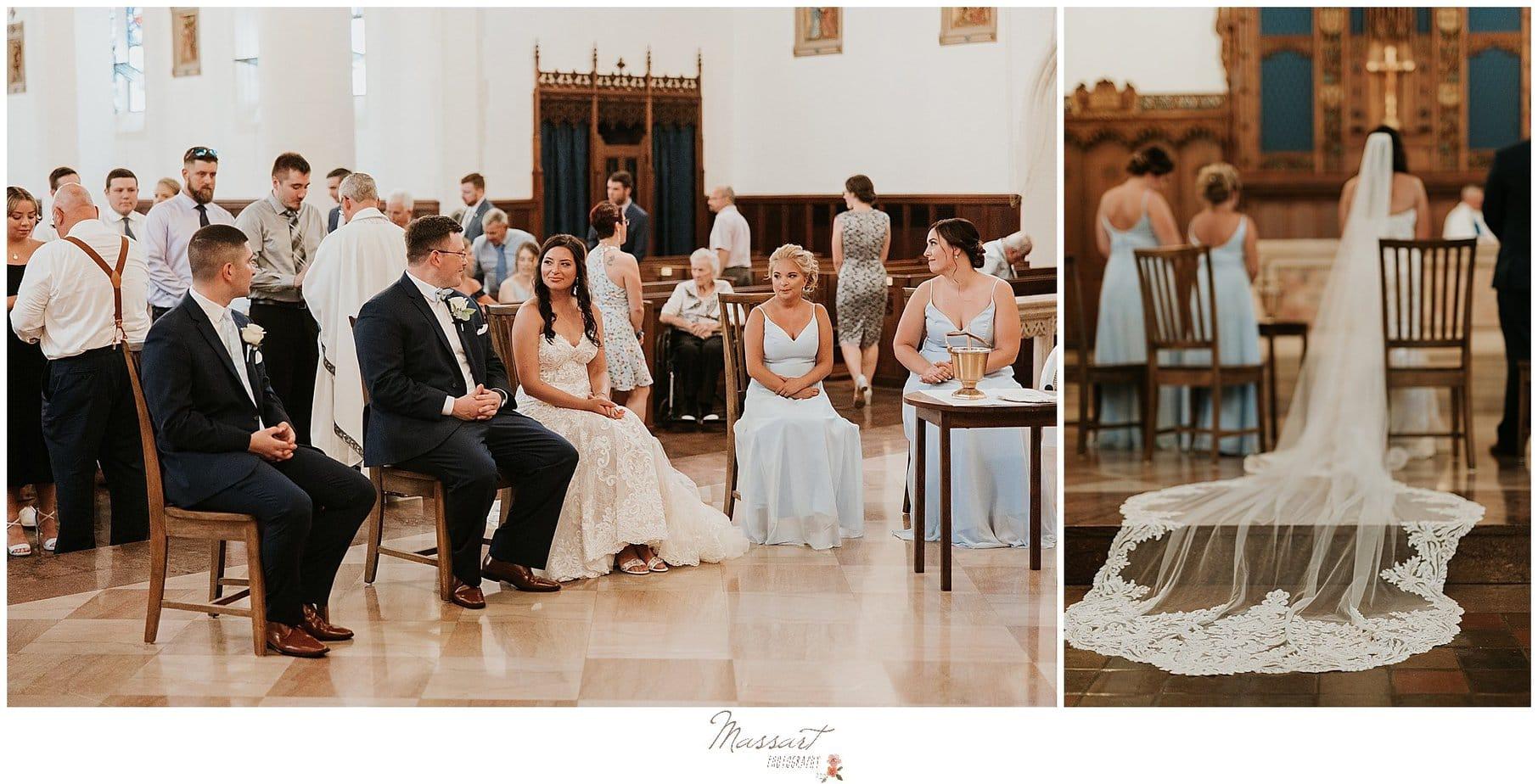 Wedding ceremony in RI by Massart Photography