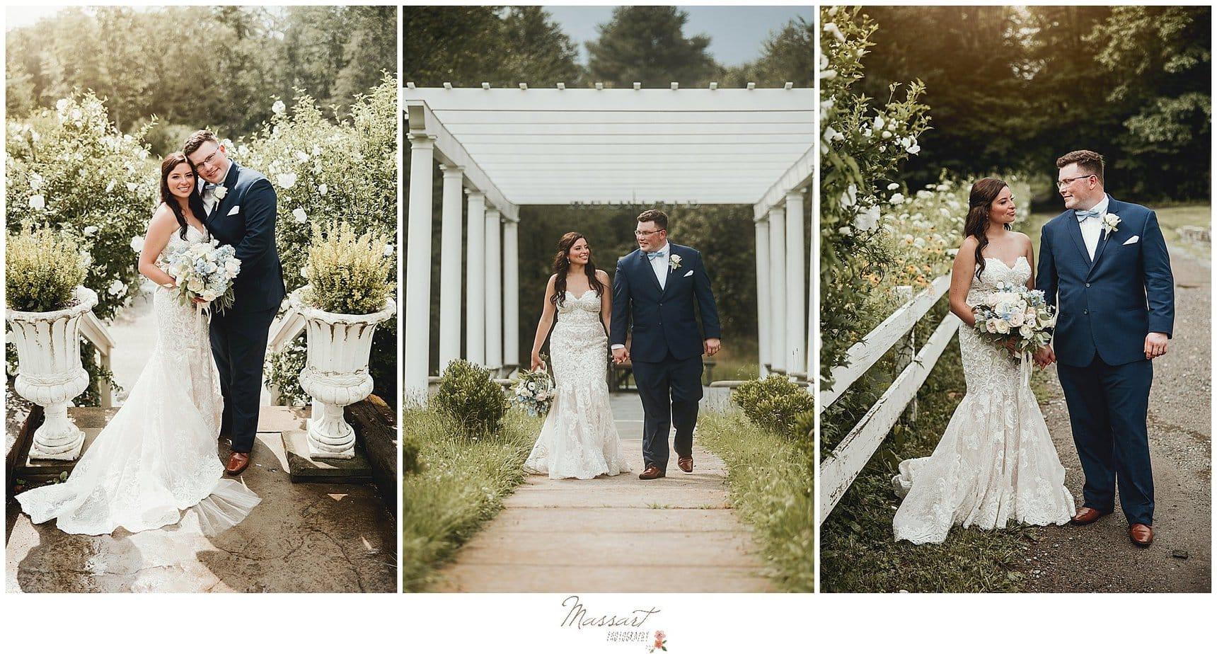 Massart Photographers photograph a bride and groom at Five Bridge Inn in MA