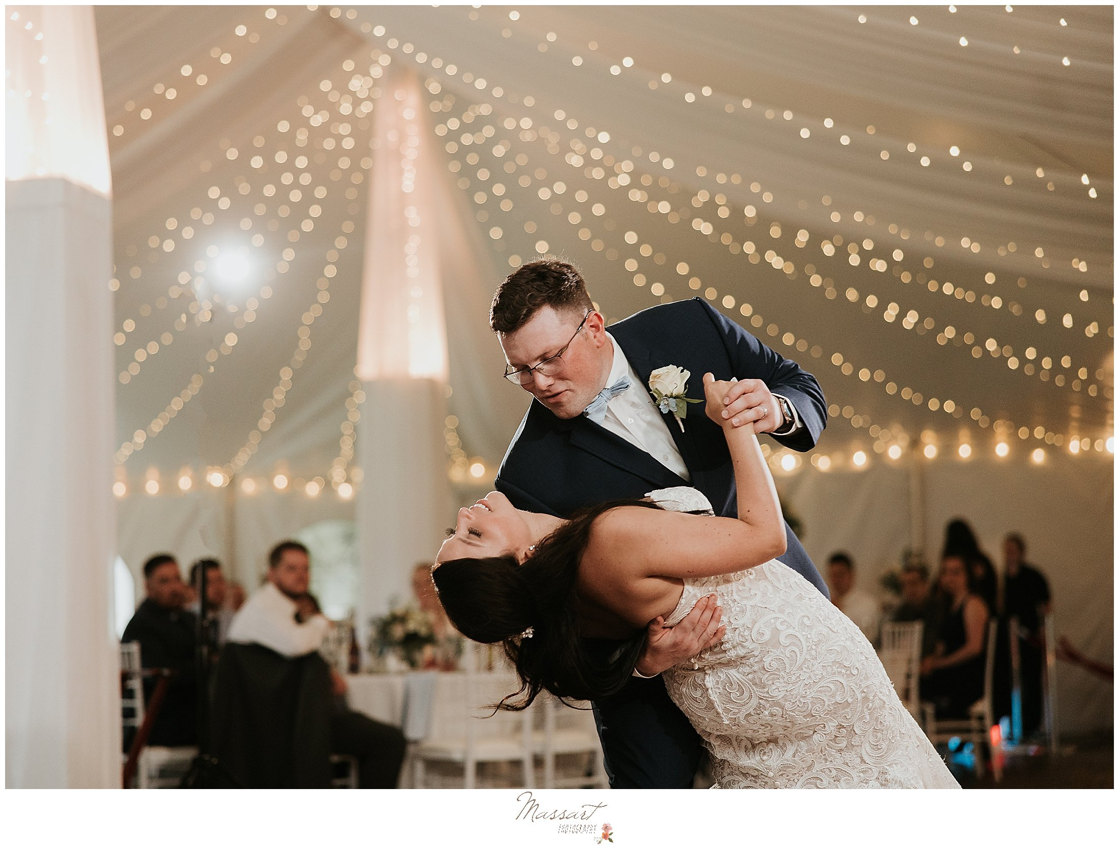 First dance picture at MA wedding