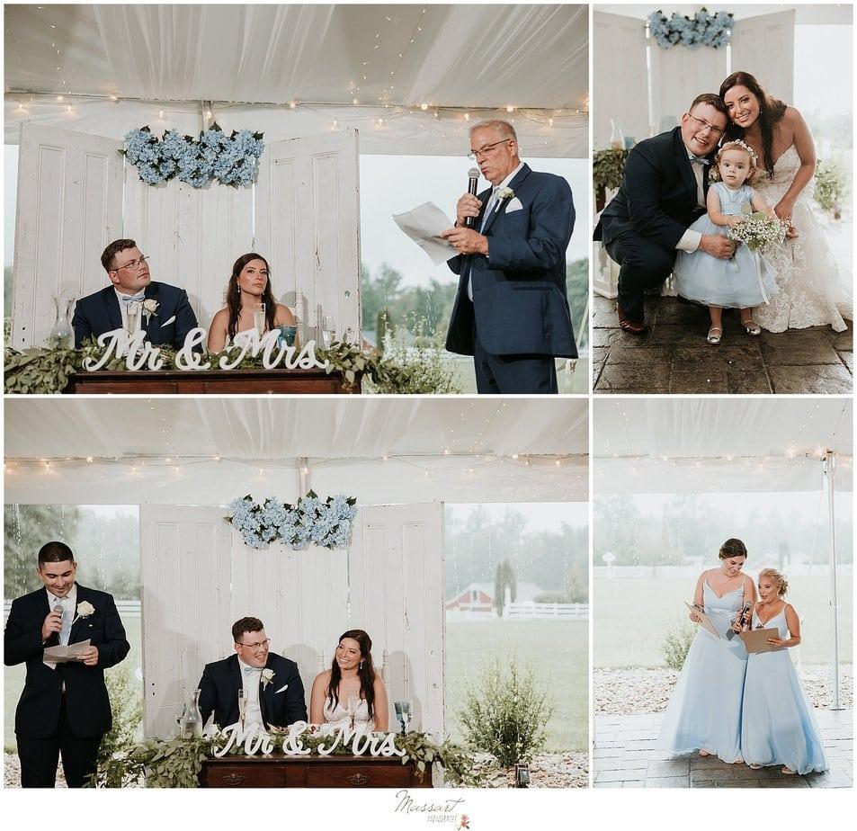 Rhode island photographers capture speeches at MA wedding