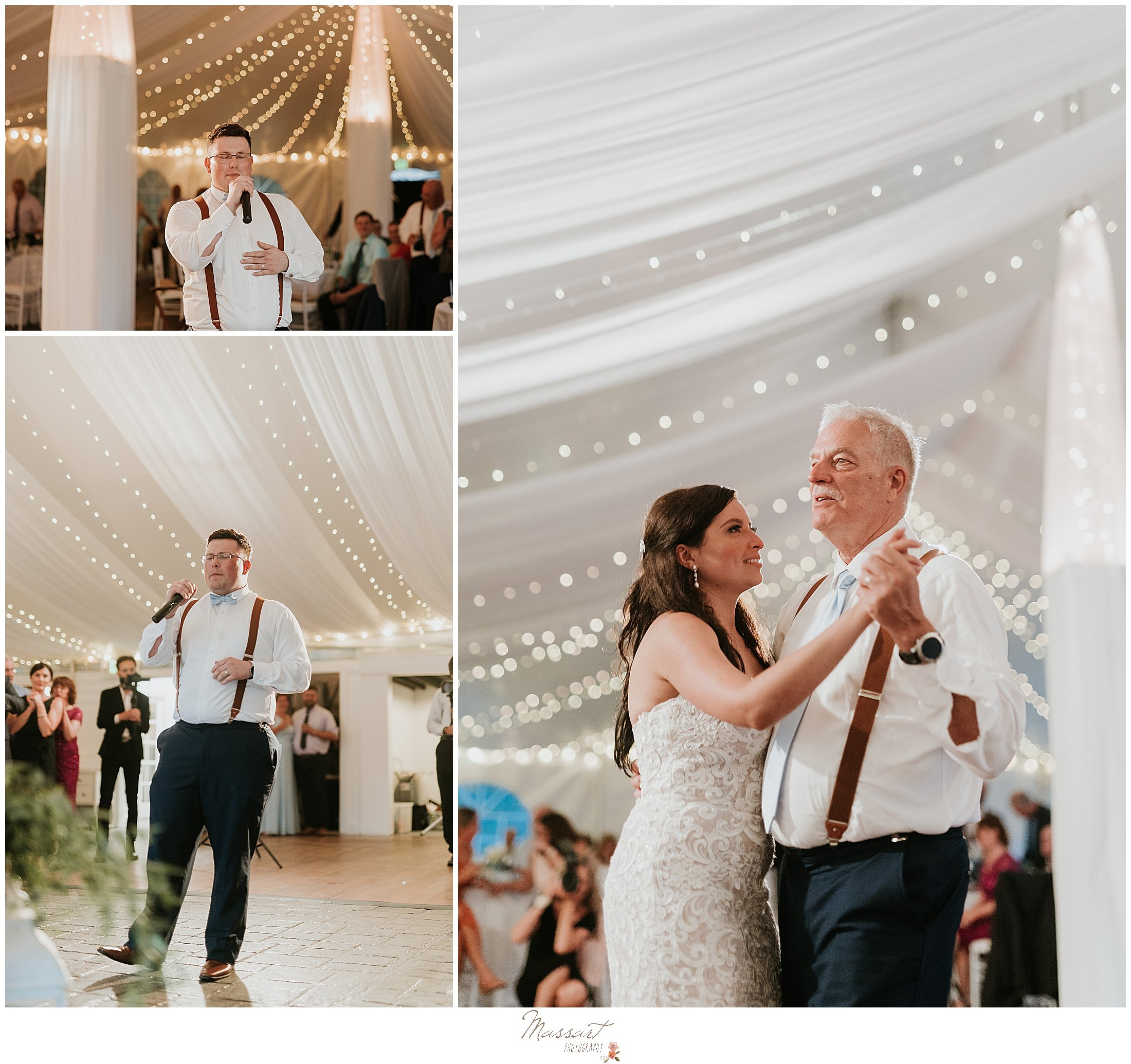 Bride dances with her father at wedding in RI