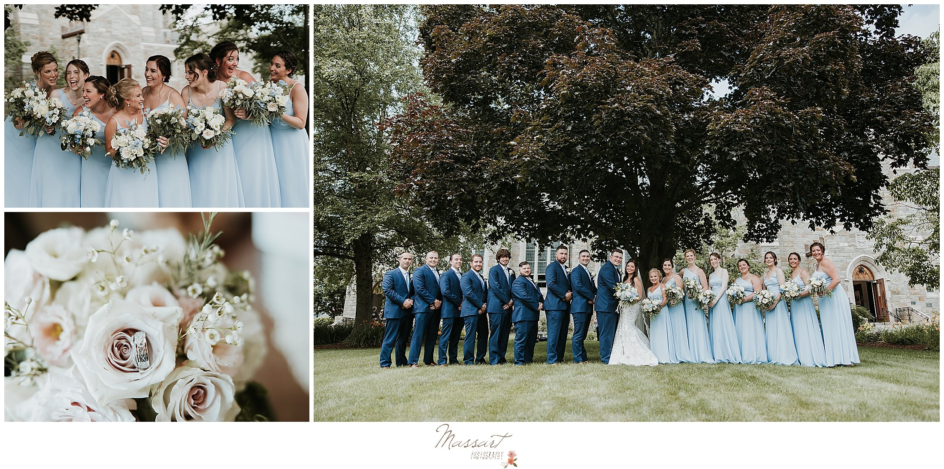 Wedding bridal party poses for RI portraits