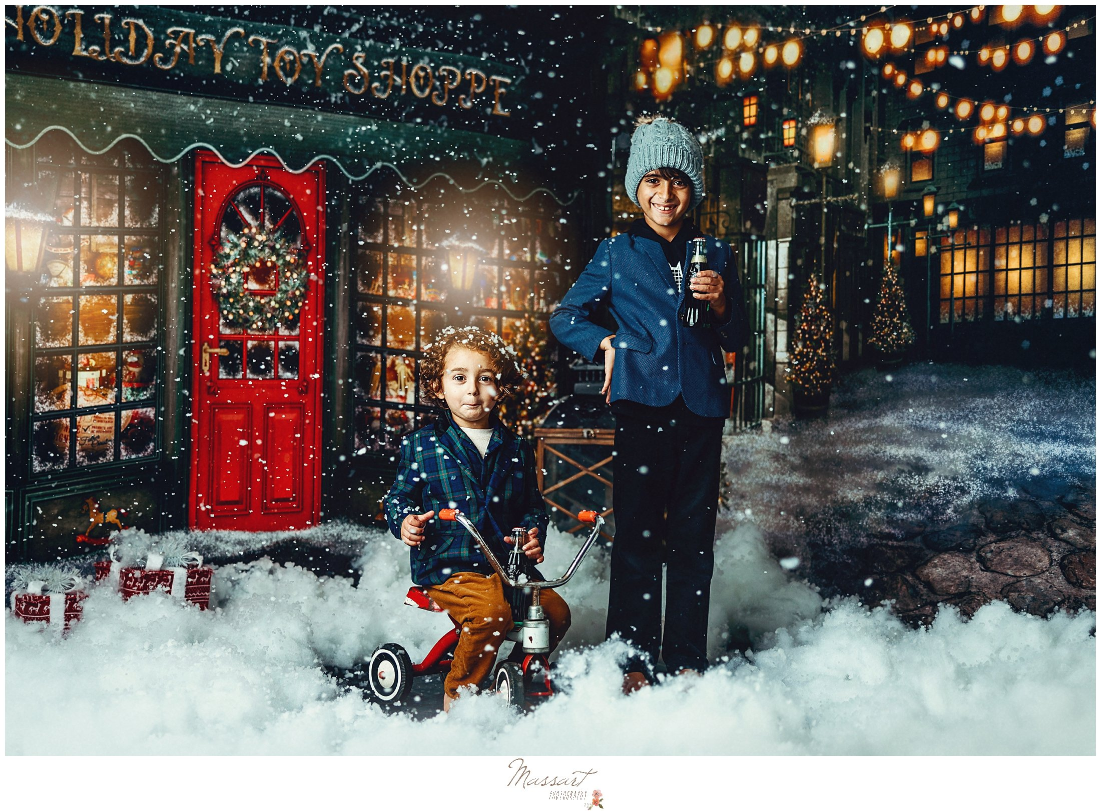 vintage theme for Massart Photography's 2021 holiday sessions