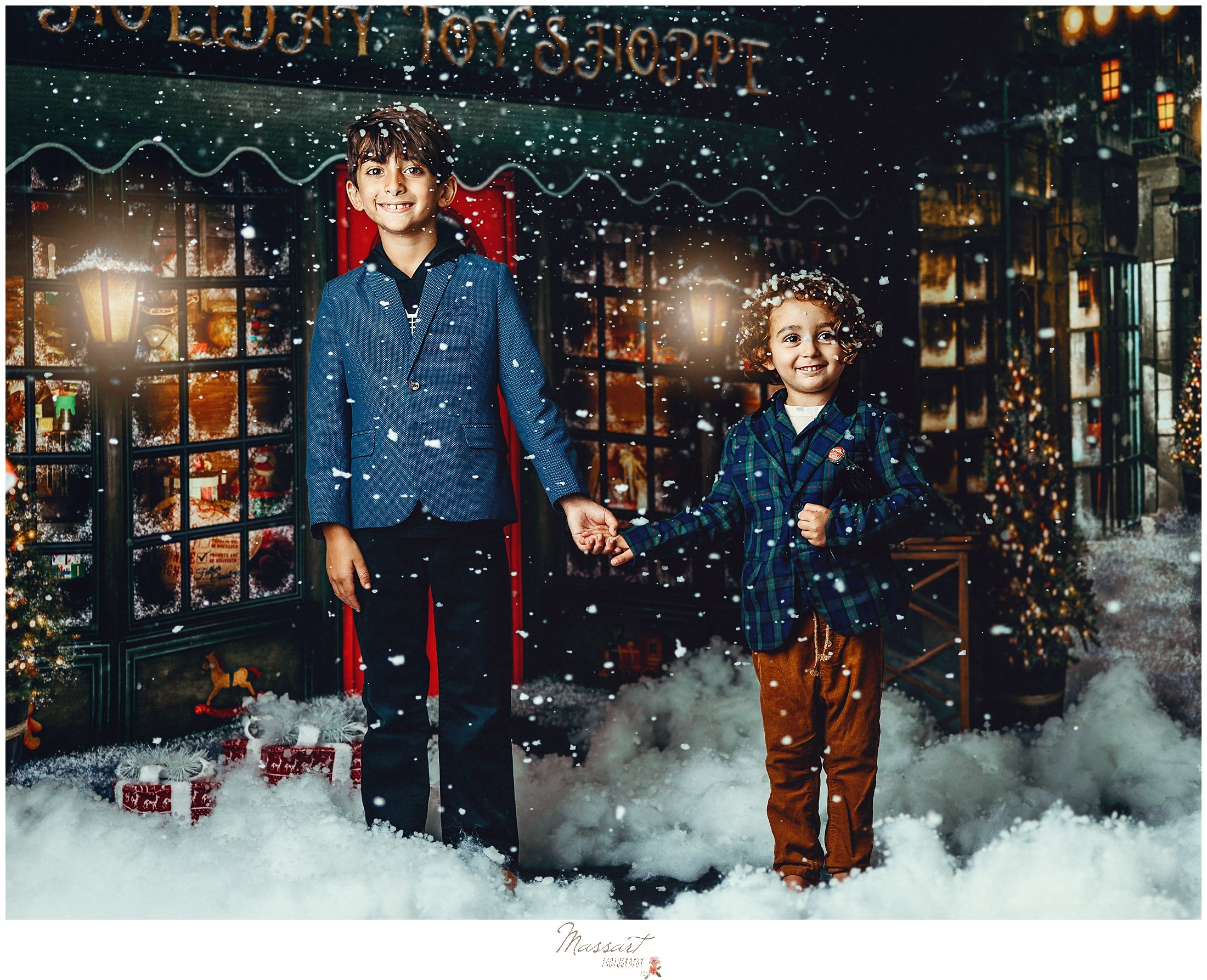 A snow scene captured during holiday mini sessions
